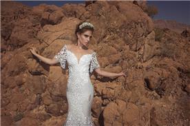 שמלת כלה עם אפליקציה מיוחדת