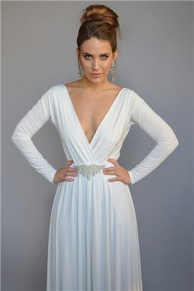 שמלת כלה לבן מבריק