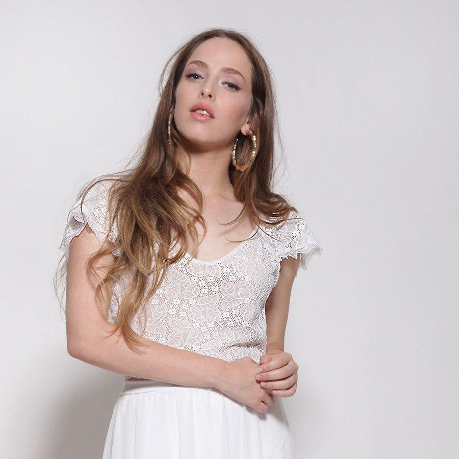 שמלת כלה: שמלת שני חלקים, שמלה בסגנון קלאסי, שמלה בצבע לבן - אורית ברזלי שמלות כלה