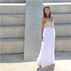 שמלת כלה: שמלה בצבע לבן, שמלה בצבע ורוד - אורית ברזלי שמלות כלה
