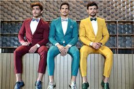חליפת חתן: חליפה בצבע חרדל, חליפה בצבע ירוק, חליפה בצבע בורדו, חליפת שלושה חלקים, חליפה בגזרה ישרה, חליפה בדוגמה חלקה, קולקציית 2017 - דון אמור