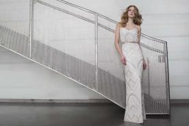 שמלת כלה מחורזת בסגנון אורבני