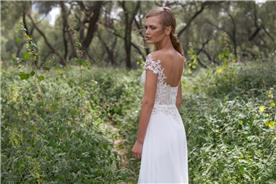 שמלת כלה עם כתפיות נופלות