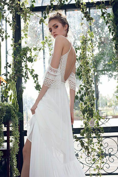 שמלת כלה איכותית עם גב פתוח