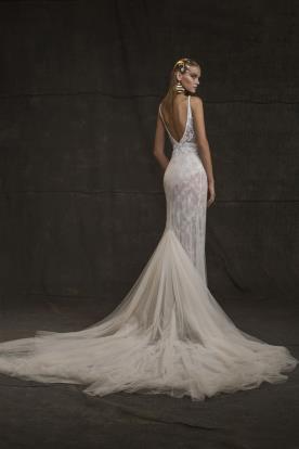 שמלת כלה אלגנטית בגוון קרם