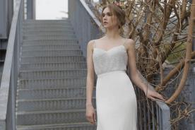 שמלת כלה קלאסית עם חריזה