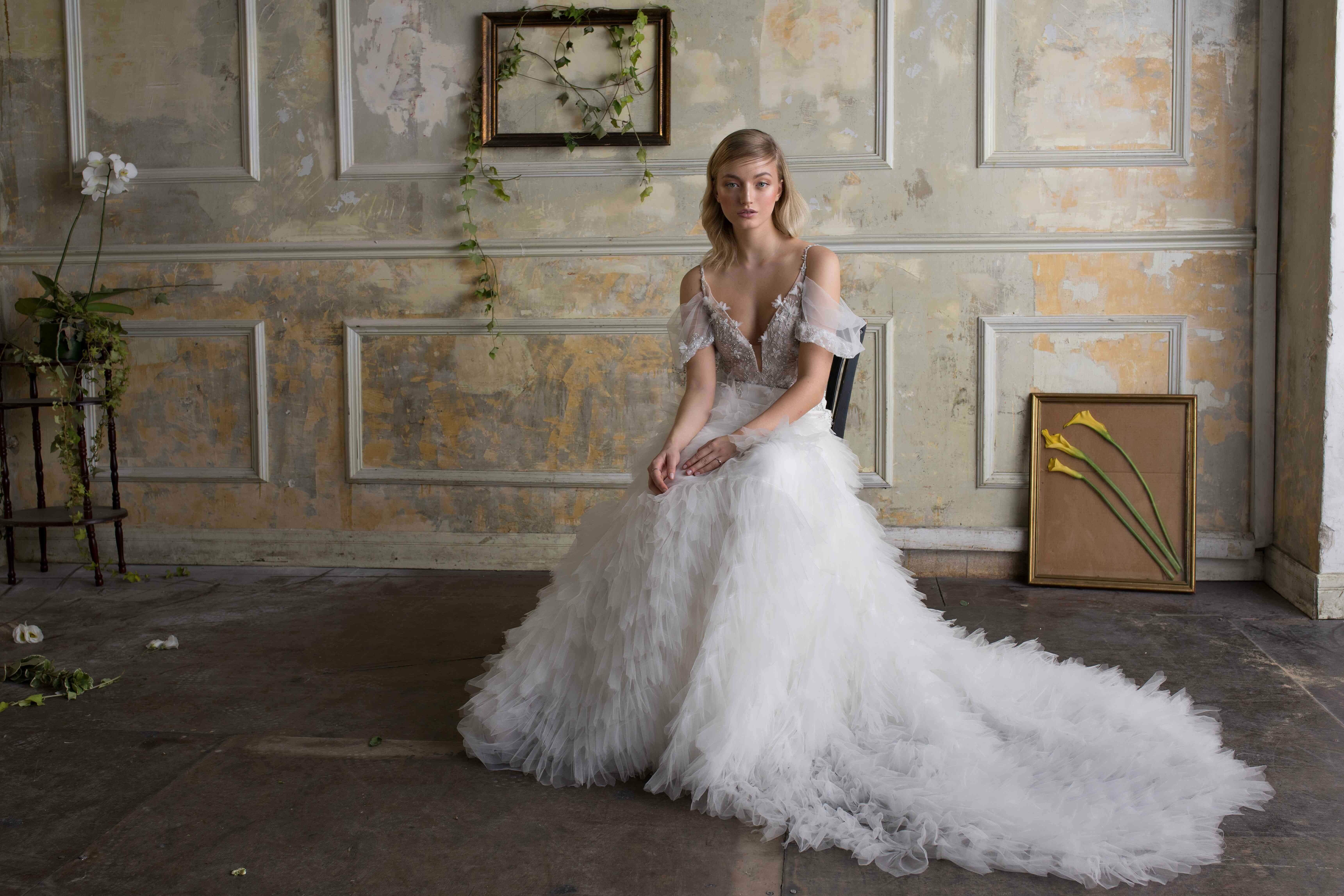 שמלת כלה מעוצבת נפוחה