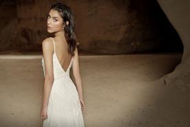 שמלת כלה עם גב חשוף למראה אלגנטי