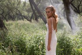 שמלת כלה תחרה אלגנטית עם גב חשוף