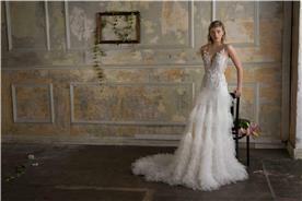 שמלת כלה בגימור מושלם עם מחשוף