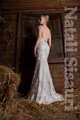 שמלת ערב אורגנזה בסגנון וינטג'