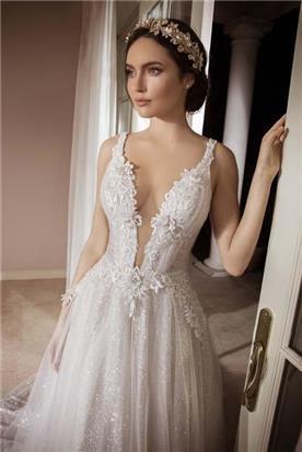 שמלת ערב בשילוב תחרה