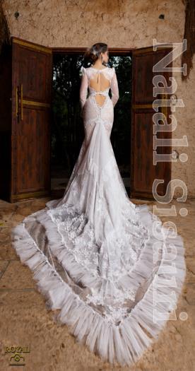 שמלת ערב צמודה עם שובל