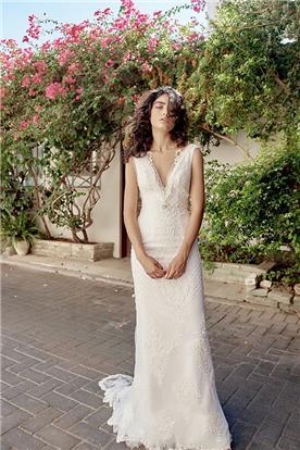 שמלת כלה מקסי כפרית