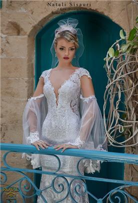 שמלת כלה מתחרה בשילוב עליונית