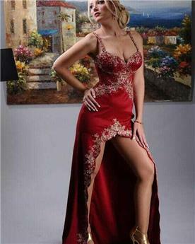 שמלת ערב אדומה