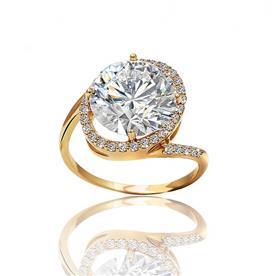 טבעת אירוסין בעיצוב עגול