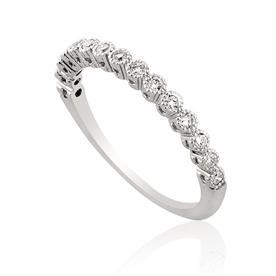 טבעת יהלומים עגולה