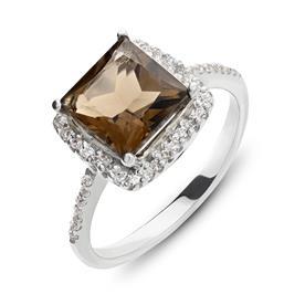 טבעת אירוסין עם אבן קוורץ