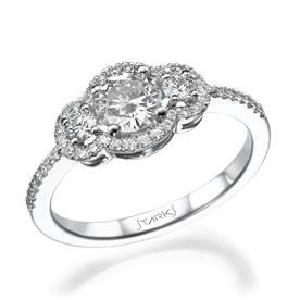 טבעת זהב לבן