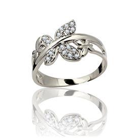 טבעת בעיצוב עלים