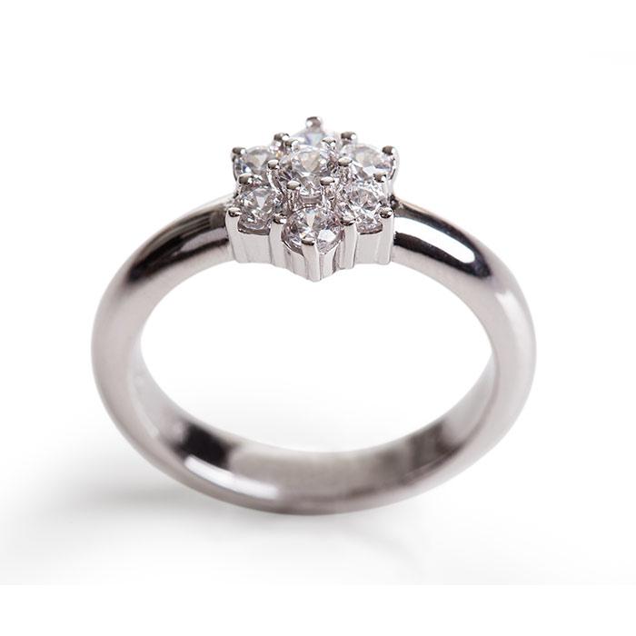 טבעת קלאסית פרח