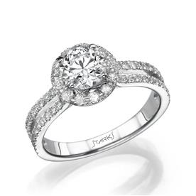 טבעת זהב לבן אבן עדינה
