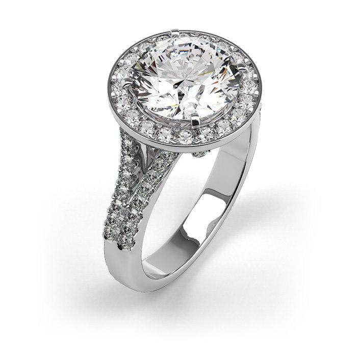 טבעת עם יהלום