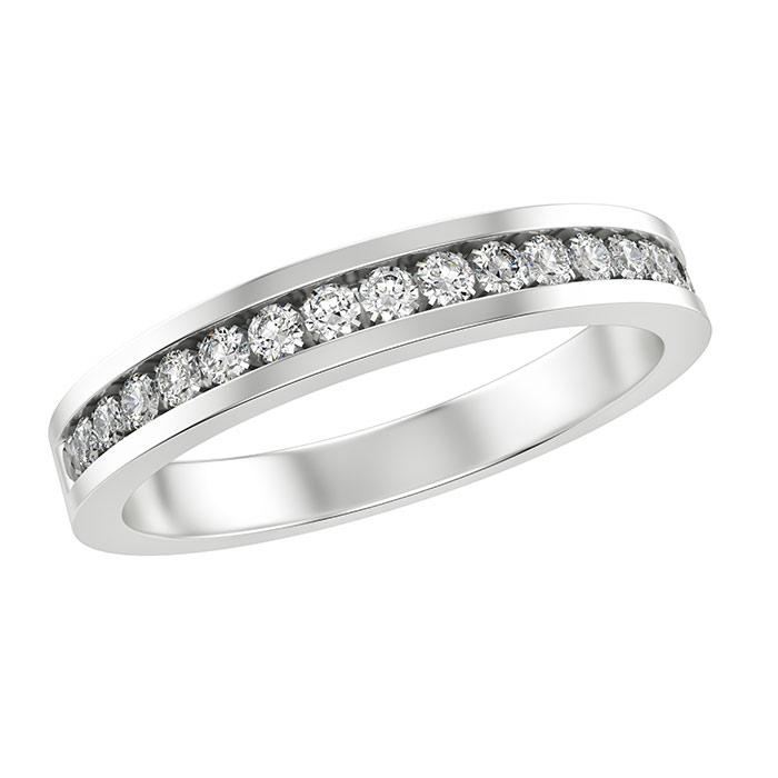 טבעת עגולה יהלומים