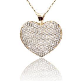 שרשרת לב משובץ יהלומים