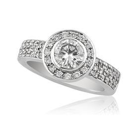 טבעת בעיצוב מיוחד עם יהלומים