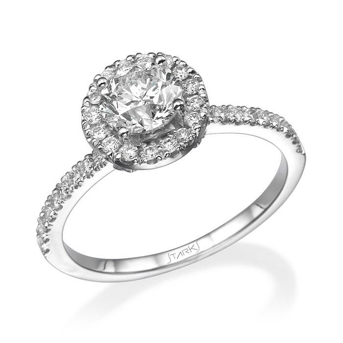 טבעת אירוסין עם יהלום שמש