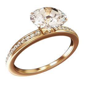 טבעת בעיצוב קלאסי זהב צהוב