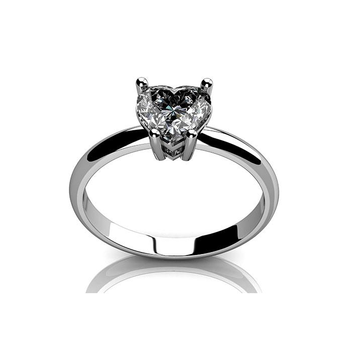 טבעת עם יהלום קלאסי