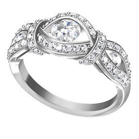 טבעת עם יהלום בצורת עין