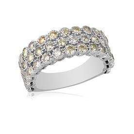 טבעת רחבה עם יהלומים