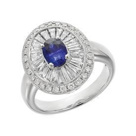 טבעת זהב לבן עם אבן קטנה