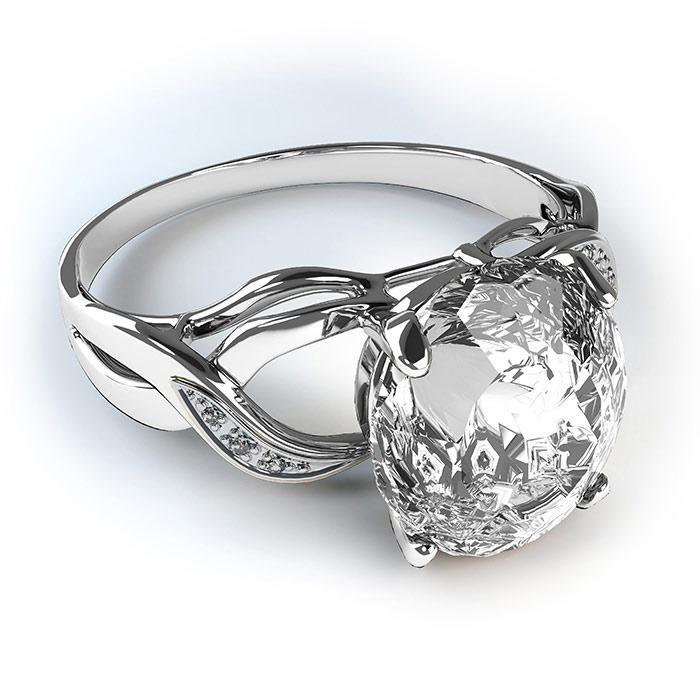 טבעת בעיצוב מיוחד עם אבן גדולה
