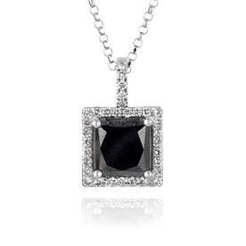 שרשרת ריבוע אבן שחורה