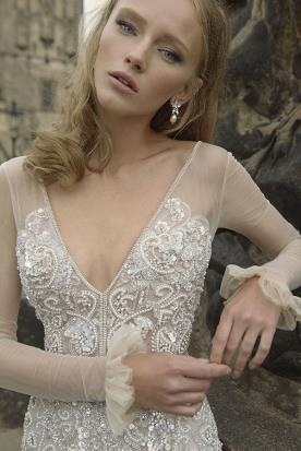 שמלת כלה שרוולי אורגנזה