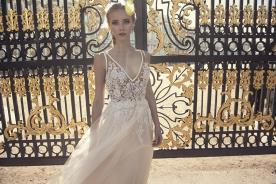 שמלת כלה תחרת פרחים