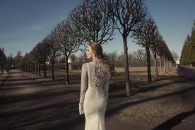 שמלת כלה תחרה עם שרוולים