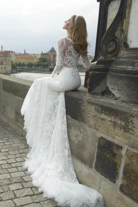שמלת כלה שרוולי תחרה