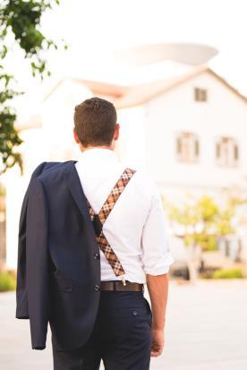 חליפת שני חלקים- מכנס עם כיס אחורי