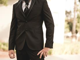 חליפת חתן- בלייזר עם דש מעוטר