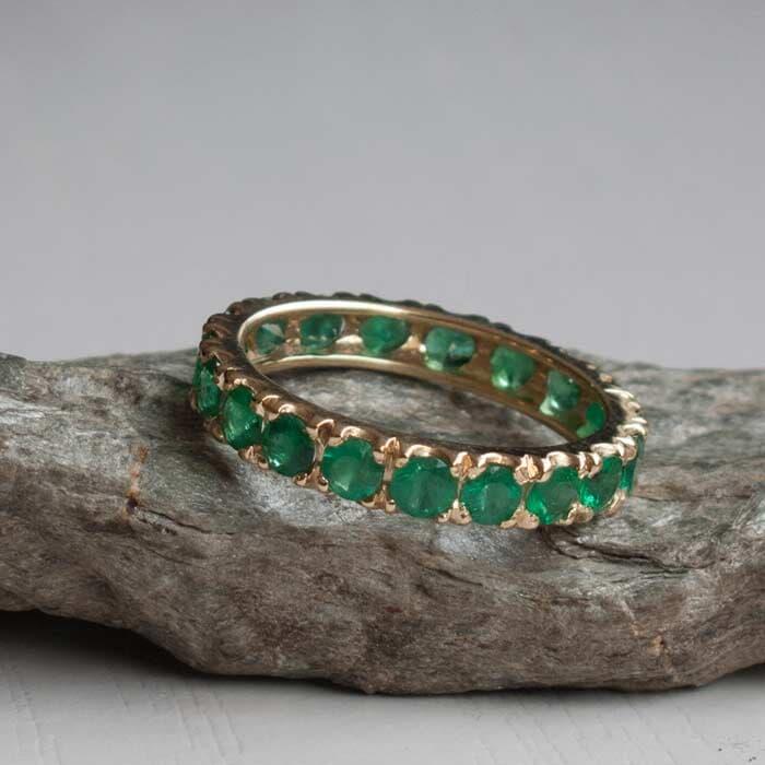 טבעת מעוצבת אמרלד
