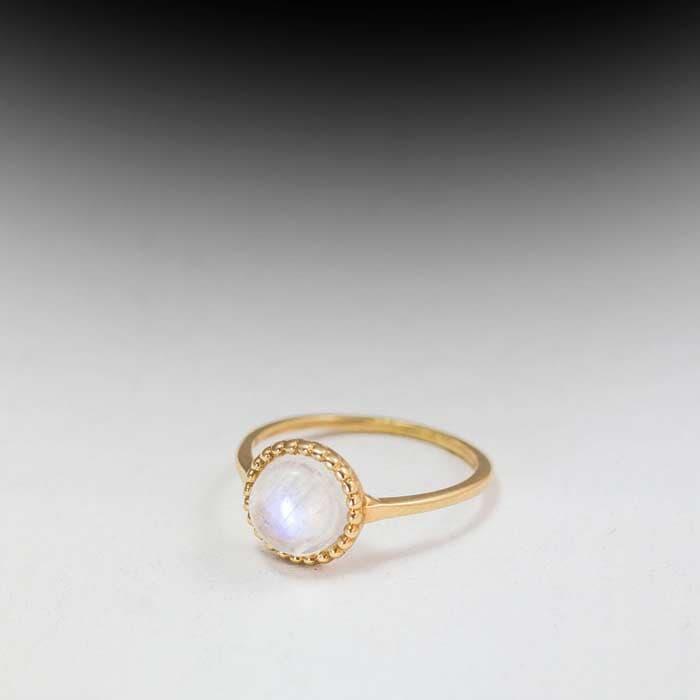 טבעת אבן גדולה ורוד