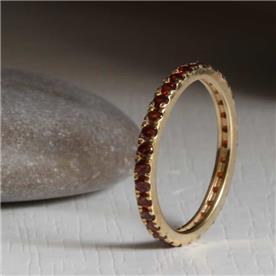 טבעת עיצוב עגול רובי