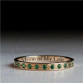 טבעת קלאסית אמרלד