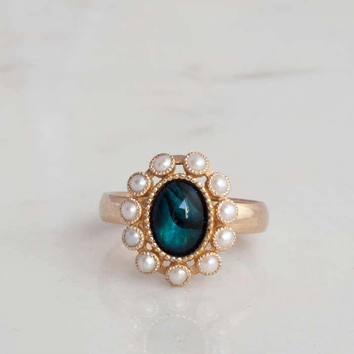 טבעת וינטג פרח